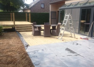 planchers de terrasse en bois autoclave
