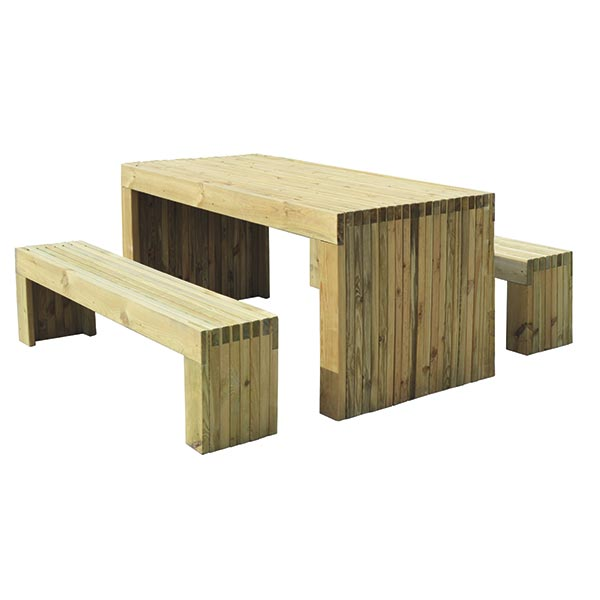 table moderne avec bancs