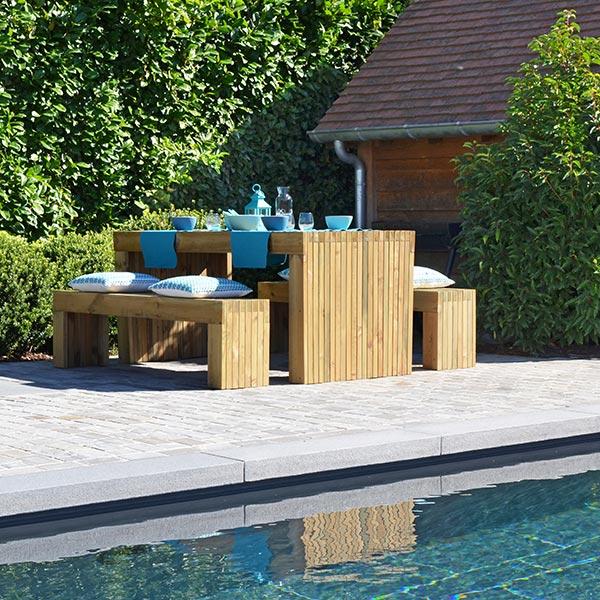 table moderne avec bancs